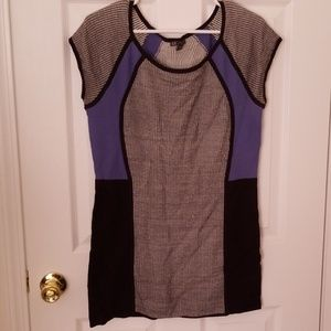 Armani Exchange Tunic Mini Sweater Dress